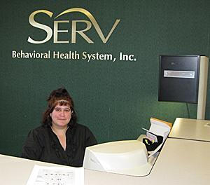 Helena works as a receptionist for SERV's Progressive Achievement Center in Ewing.